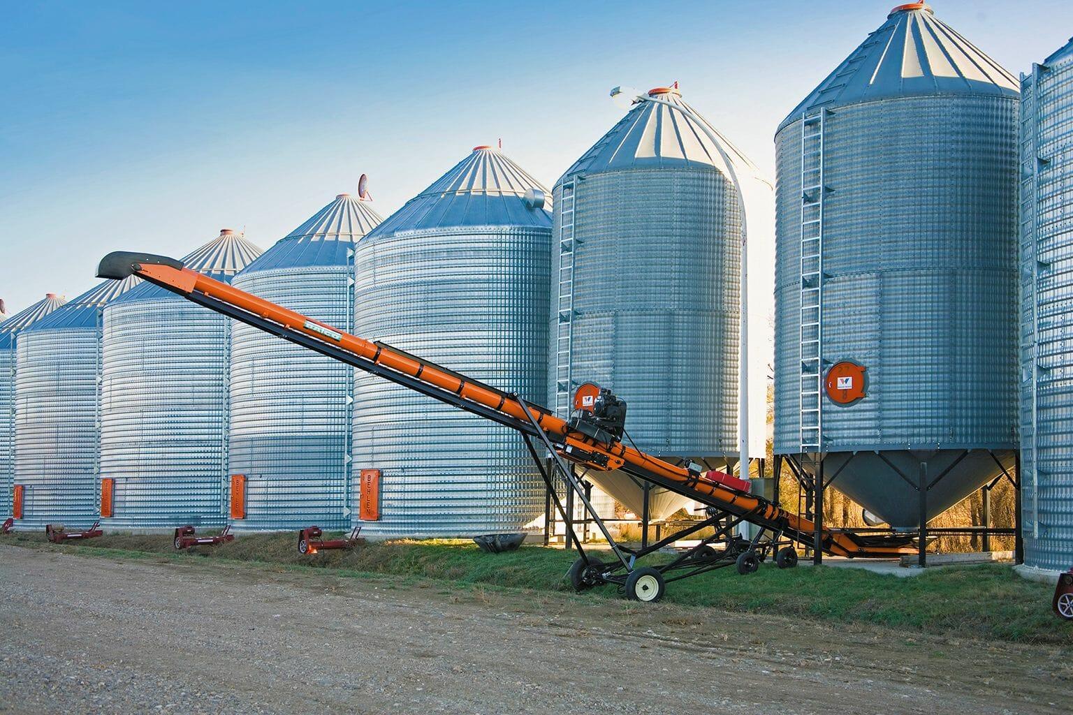 Ремонт зернового элеватора Транспортер ленточный поворотный АК 1081